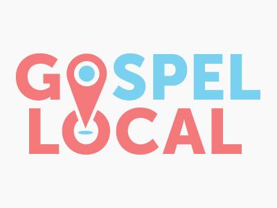 GOspel Local Logo theme church pin local go logo
