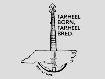 2016 Graphic for RUF at UNC state north carolina banjo ruf unc tarheel