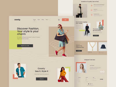 #TemplateKit - COOSTY - Homepage uiux ui ux uidesign styleguide clothes brand typography design business shopping shop style ecommerce fashiondesigner fashion webdesign trend clean