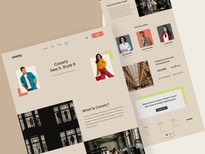#TemplateKit - COOSTY - About Us Page uiux ui ux uidesign template clothes shopping styleguide style ecommerce fashion branding website typography business webdesign trend clean