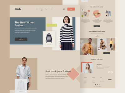 #TemplateKit - COOSTY - Style Page ui ux vector uidesign typography brand ecommerce project styleguide style shopping fashion trend design website business webdesign clean