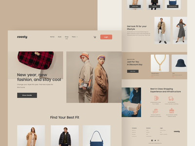 #TemplateKit - COOSTY - Shop Page styleguide shopping uiux ui ux uidesign template typography vector clothes ecommerce style fashion branding design website business webdesign trend clean