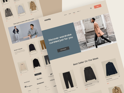 #TemplateKit - COOSTY - Men Page uiux ui ux uidesign styleguide template shopping ecommerce style men fashion vector branding typography design website business webdesign trend clean