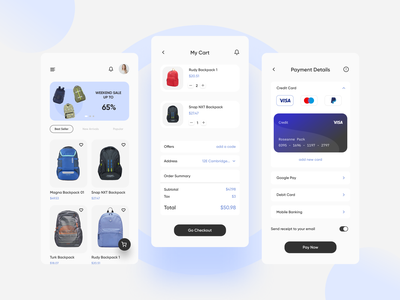 Credit Card Checkout - Mobile App Online Store ui ux uidesign brand typography business 002 dailyuichallenge dailyui daily checkout creditcard online store app mobile design trend clean