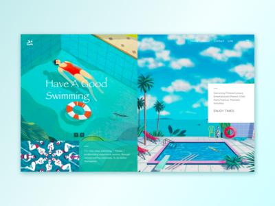 Swimming Page Design