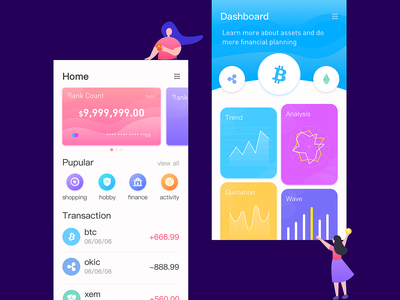 Financial Interface moeny financial app card app gui ui ux