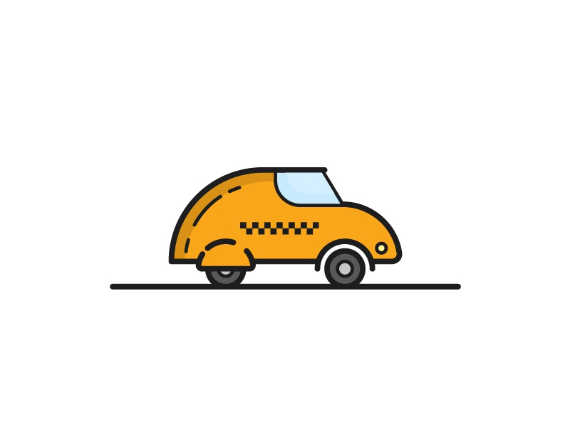 Taxi icon taxi icon car yellow illustration