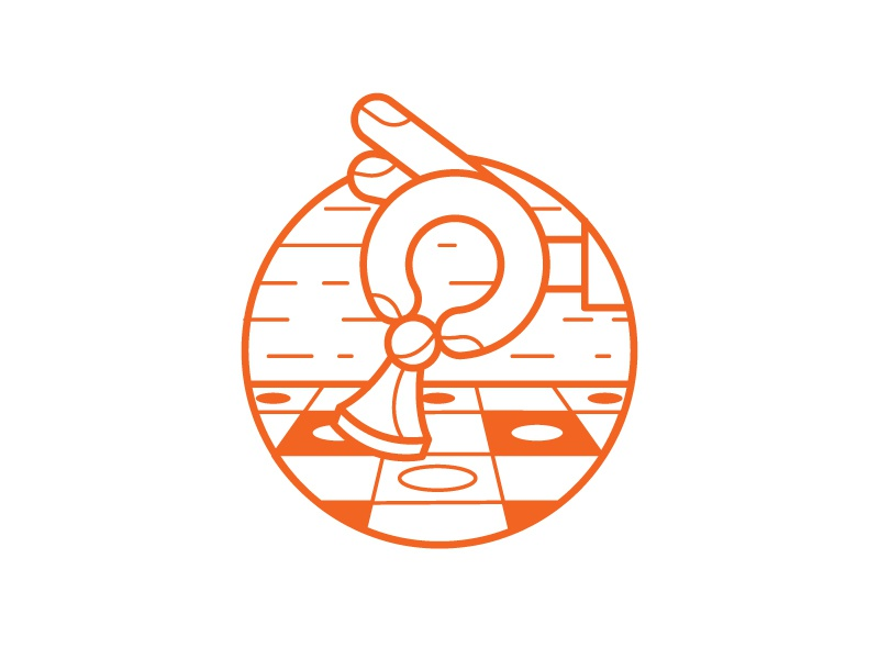 Board games outline orange play hand illustration icon games board