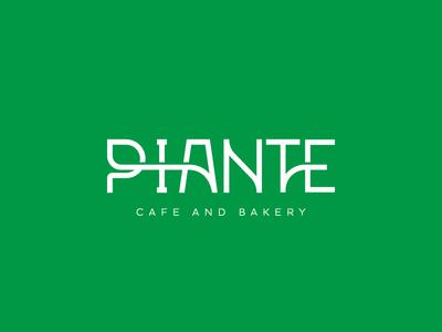 Piante Green Cafe Logo
