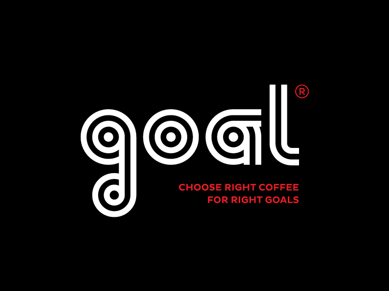 Goal Coffee Shop allergic designer black packaging type archery coffee goal brand logo