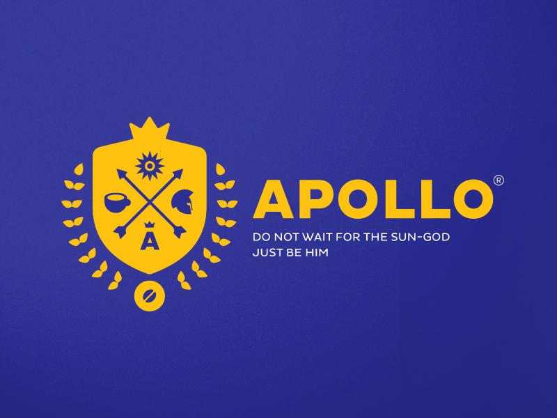 Apollo Coffee Shop allergic designer yellow sun logo packaging coffee god apollo