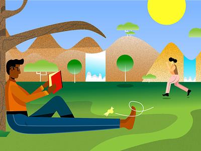 Sunnyday running sun challenge flat character graphic digitalart artoftheday design graphicdesign creative 2d adobe illustrator illustration