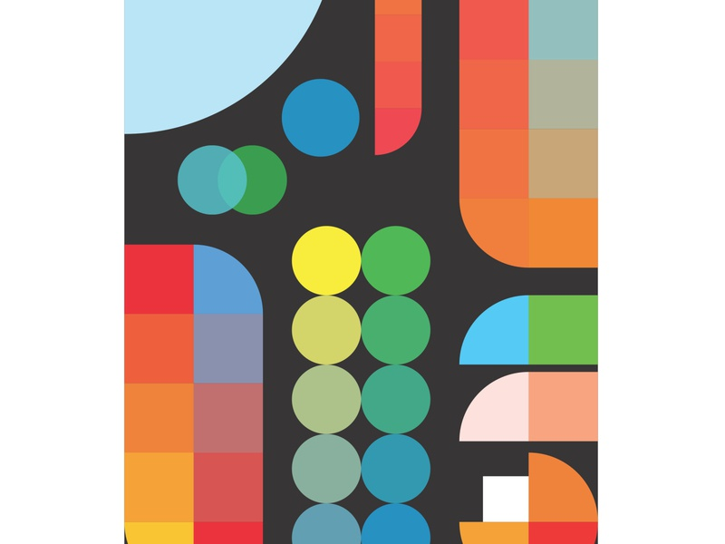 just hue 101 posters colorful shapes colors poster art gradience poster design hue poster flat graphic abstract creative graphicdesign 2d artoftheday illustrator illustration