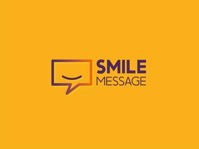 SMILE MESSAGE orange illustrator illustration abstract design logo vector purple message smile yellow