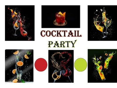 moodbaord of Cocktail Party vector typography branding graphic design brief ilustration design typhography logotype indesign art artwork creativity creative design moodboards