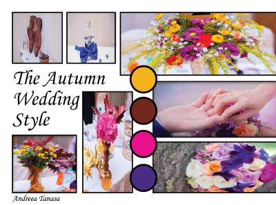Autumn wedding moodboard indesign wedding style moodboard branding ilustration design graphic design artwork