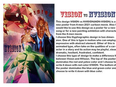 vison vs nvision jpg illustration illustration art typography design branding logo indesign ilustration design photoshop illustrator typhography graphic art graphic design