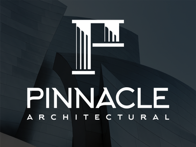 Pinnacle Architecture Logo architectural architect logo design identity design brand identity design logos logo brand identity