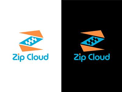 Zip Cloud Logo identity branding logo design brand identity design identity design logos logo brand identity