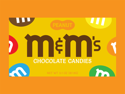 M&Ms Redesign chocolate peanut candy rebrand redesign packagingdesign packaging package design package design logos logo dribbble dribbbleweeklywarmup