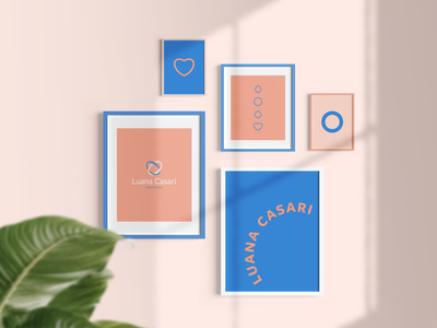 Luana Casari flat logo design logo design branding health logo healthcare clean logo brand identity design brand design