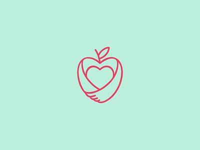 Mari Taranto design health biancahansen line minimal logo design logo mom nutritionist nutrition apple