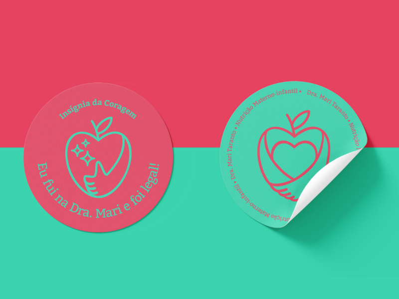 Mari Taranto line mom brand design logo design logo love cool nutritionist nutrition eating healthy heart apple
