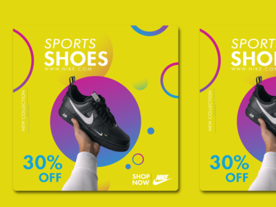 Nike Poster shopping shop shoes store shoes nike shoes nike air nike social media design social media poster flat photoshop branding mockup minimal design