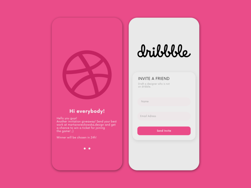 Dribbble Invitation illustration ui design uiux invite design app application ux ui giveaway invitation dribbble invite dribbble draft