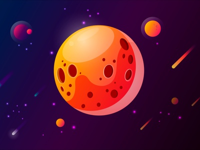planet vector illustration vector art planet ui illustration vectorart vector giveaway design