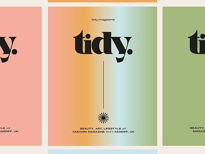 Tidy Magazine magazine cover magazine design gradient logo design collateral print vector branding graphic designer magazine