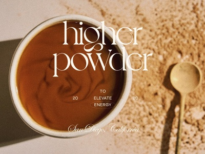 Higher Powder — Branding & Packaging Design powder energy adaptogens wellness branding design brand and identity brand identity design branding