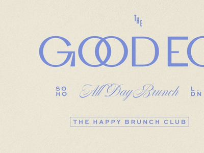 The Good Egg - Typography details logo design branding branding design vector logo design typography type