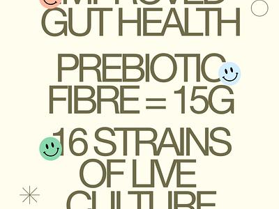 Gutsy - Probiotic Gummies / Branding + Typography exploration