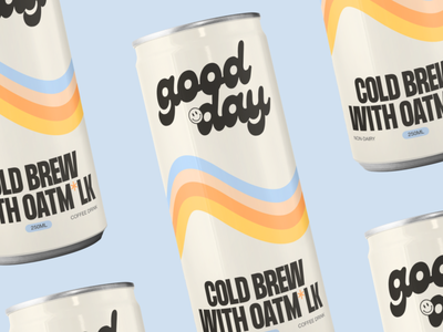 Good Day - Branding & Packaging packaging concept packaging branding concept identity branding and identity vegan oatmilk coffee cold brew coffee cold brew design vector logo design branding design branding