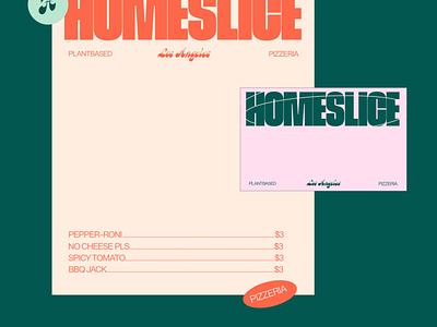 Homeslice – Plantbased Pizzeria logo typography brand identity design vector logo design branding design branding