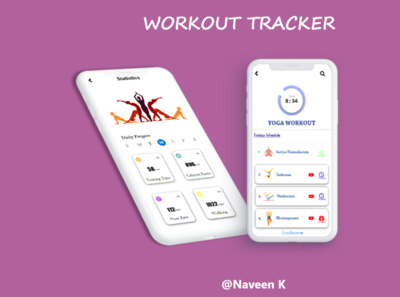 Workout Tracker dailyui dailyuichallenge app ux ui design