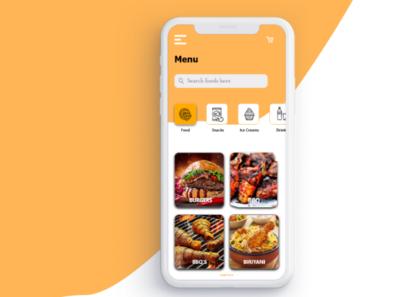 Food/Drink Menu dailyuichallenge dailyui app ux ui design
