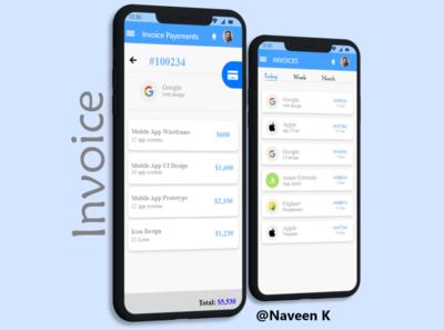 Invoice dailyuichallenge dailyui app ux ui design