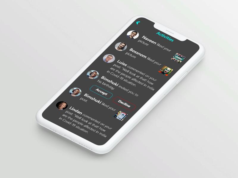 Activity Feed dailyuichallenge dailyui app ux ui design