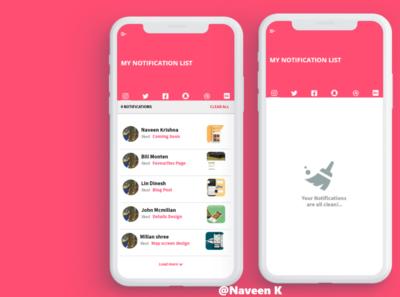 Notification Design dailyuichallenge dailyui app ux ui design