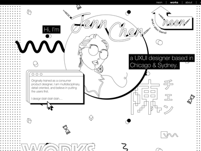 Personal Portfolio Website WIP vector typography uidesign neon portfolio website