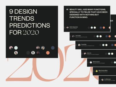 2020 Design Trends Predictions