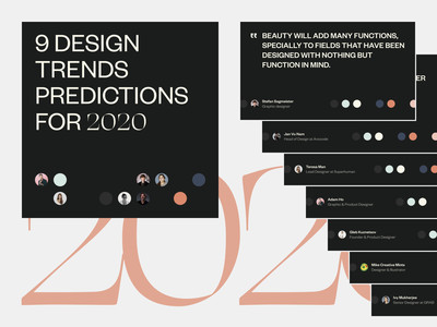 2020 Design Trends Predictions dark avocode typographic twitter post social instagram post 2020 designers instagram quote typography clean