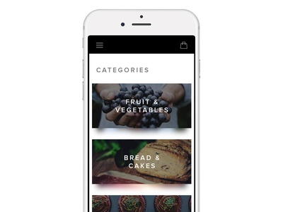Food delivery app categories