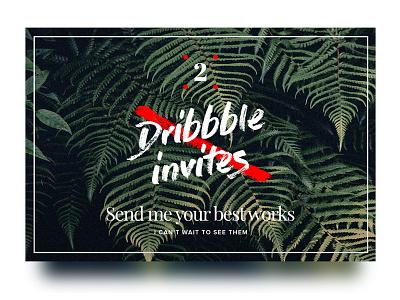 2 Dribbble invites giveaway script brush blur shadow card giveaway invitation invite invites dribbble
