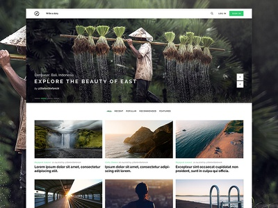 Travel portal homepage slovakia articles clean travelling explore hero homepage portal travel