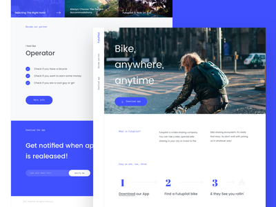 FutuPilot - Landing page colorful email subscribe about us hero header menu landing slovakia clean