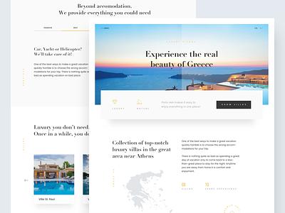 Luxury Ellada - Homepage header white design ui slider headline hotel luxury minimal clean
