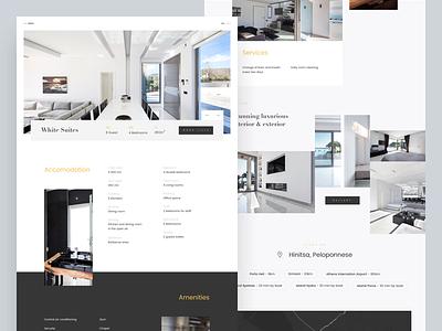 Luxury Ellada - Villa Detail services location list gallery hotel ui layout minimal clean landing architecture luxury